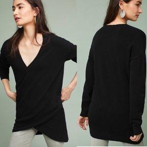 Anthropologie Postmark Stowe Wrap Sweater Black